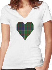 00768 Barbecue Presbyterian Church Tartan  Women's Fitted V-Neck T-Shirt
