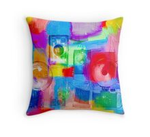 Old Camera Abstract Throw Pillow