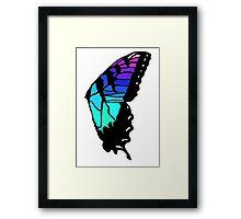 Brand new eyes' butterfly wing inspired fan art Framed Print