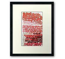 The Heat's Murder Framed Print