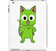 Anime cate pose - green iPad Case/Skin