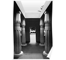 Egyptian Park - Columns in black and White. San Jose, California 2011 Poster