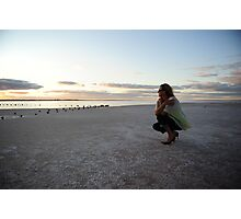 gazing upon saltlake Photographic Print