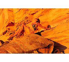 orange rocksl Photographic Print