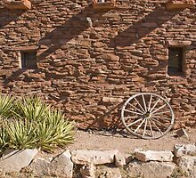 Southwest Adobe Wall  by Denice Breaux
