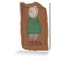 Brown paper boy Greeting Card