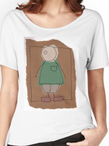Brown paper boy Women's Relaxed Fit T-Shirt