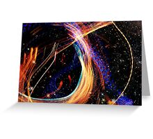 Fullerton Lights in Space Greeting Card