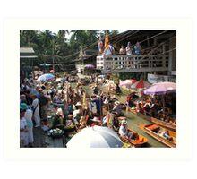 Floating Market Art Print