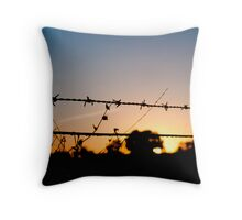 Barbed morning Throw Pillow