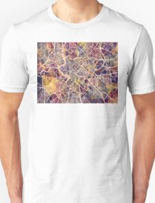 Rome Italy City Street Map Unisex T-Shirt