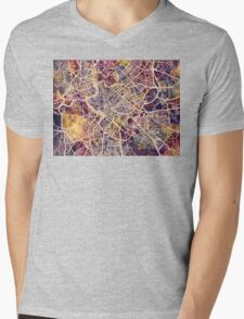 Rome Italy City Street Map Mens V-Neck T-Shirt