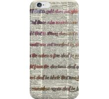 Bilbo Baggins Quote Over Old Book Page iPhone Case/Skin