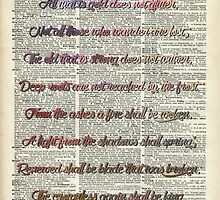 Bilbo Baggins Quote Over Old Book Page by DictionaryArt