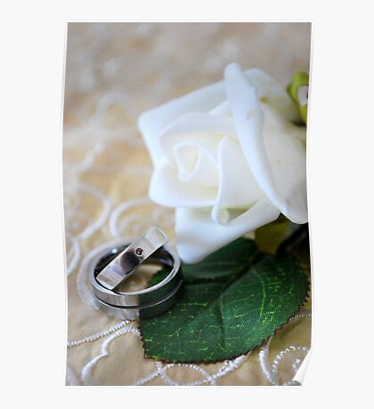 Stock Wedding Rings Poster