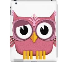 Cute Owl pink iPad Case/Skin