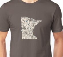Minnesota Vintage Picture Map Unisex T-Shirt