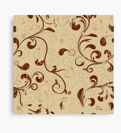 Grunge floral seamless background Canvas Print
