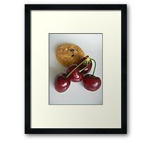 cherriy and sweet Framed Print