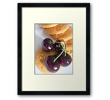 cherries shiny Framed Print