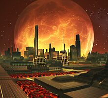 Uno City Central - Planet Lavatarius by SpinningAngel