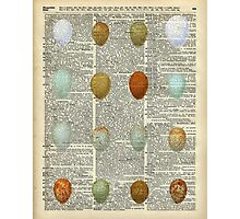 Colourful Eggs Vintage Collage Easter Gift Photographic Print