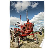 Red Tractor Poster