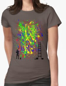 Night Artist Womens Fitted T-Shirt