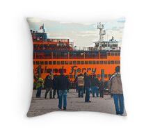 Battery Park Bucolic Throw Pillow