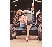 Fun on the Farm Photographic Print