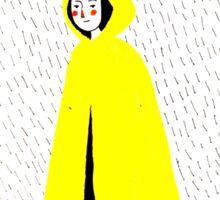 Girl in Yellow Raincoat Sticker