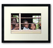 Uganda children Framed Print