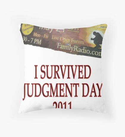 Judgment Day Throw Pillow