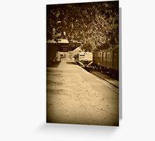Holga Train Greeting Card