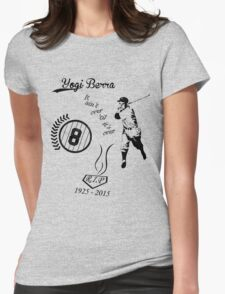 Yogi Berra RIP bl Womens Fitted T-Shirt