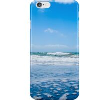 Ocean waves and blue sky with clouds iPhone Case/Skin