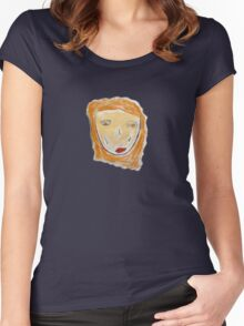 Red-Haired Girl Tee Women's Fitted Scoop T-Shirt
