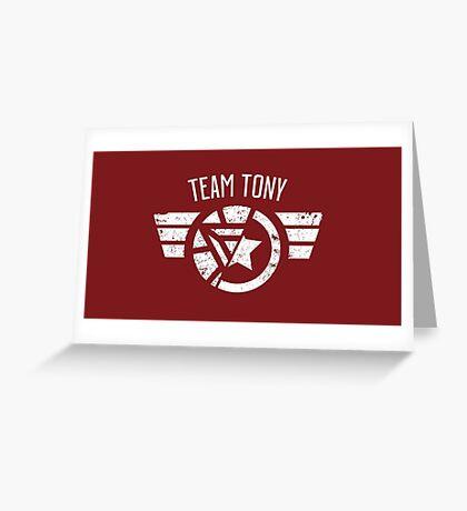 Team Tony - Civil War Greeting Card