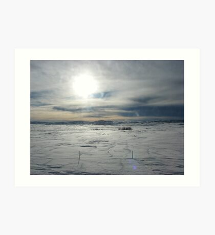Snow on the prairie Art Print