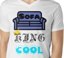 Sofa King Cool Mens V-Neck T-Shirt