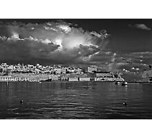 Valletta Wharf Mono Photographic Print