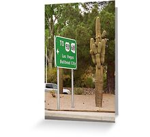 Route 66 - Kingman, Arizona Greeting Card