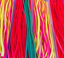 Colorful candies at the market by patrascano
