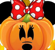 Mickey and Minnie say Fall is Not So Scary Sticker