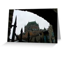 Le Chateau Frontenac Greeting Card
