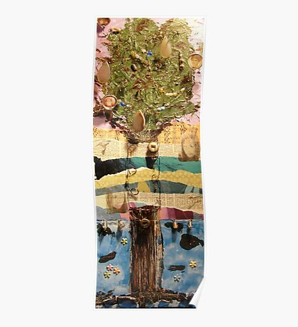 Hummingbird Tree Poster
