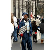 Marching Against Poverty  Photographic Print
