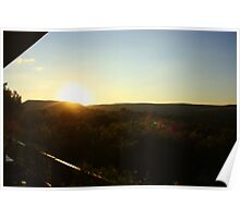 Sunset over the Cradle of Humankind Poster