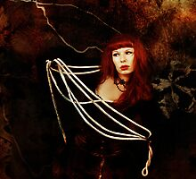 woman with ropes by annacuypers