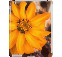Rusty Golden Yellow Flower iPad Case/Skin